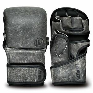 Antique Gray Series MMA Sparring Gloves - Genuine Leather