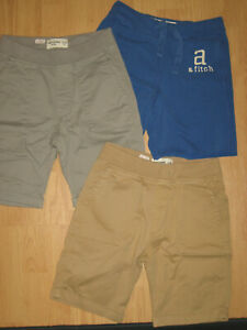 lot boys Abercrombie kids stretch elastic waist shorts 10-11-12 casual