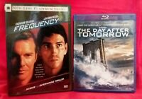 Dennis Quaid 2 movie (Blu-ray/DVD) lot The Day After Tomorrow, Frequency
