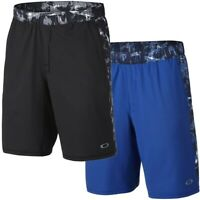 Oakley Men's Edge Control Printed Activewear Training Shorts - Black Battle