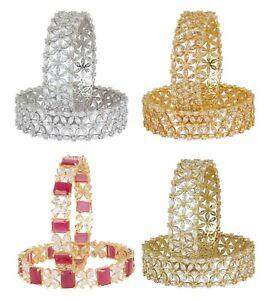 Indian Diamond American Jewelry Zircons Made Bracelet Wedding Women Bangles