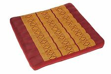 Boden Kissen Sitzkissen Auflage Kapok Füllung Zabuton Meditation rot gold