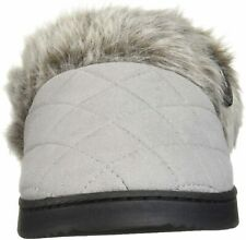 Dearfoams Womens Slippers in Grey Color, Size 9 IGJ