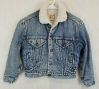 Vtg Levis San Francisco USA Denim Jean Type 3 Jacket Sherpa Sz M (Kids Youth?)