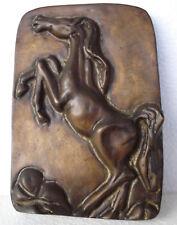 Plaque Sculpture Vintage Horse In Relief Bronze,,,, Rare to Find/170