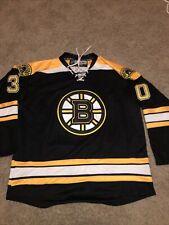Reebok Authentic Boston Bruins Tim Thomas CCM Jersey Men's Size 52 W Fight Strap