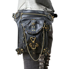 Gothic Steampunk Retro Rock Women Shoulder Punk Bag Waist Pack Pocket Wallet