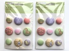 Baby Girl Fabric Buttons Scrapbook Stickers Lot Tpc Studio Greeting Cards