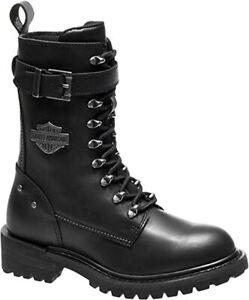 HARLEY-DAVIDSON Damen Stiefel Calvert Leder schwarz D86035