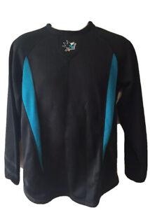 NHL San Jose SHARKS Men's Black Small THERMABASE Jersey/Sweatshirt Magestic