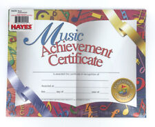 Hayes Multi-Color Music Achievement Award Certificates, 30 sheets per pack