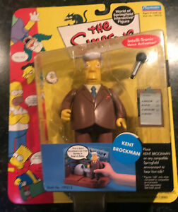 The Simpsons - Kent Brockman Figure, New in Box, Rare, Playmates, toys