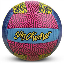 10 Inch Indoor/Outdoor Shockwave Multicolor Beach Volleyball with Air Pump New