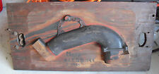 BIG Antique Wood Sand Cast Foundry  Industrial Mold For Mack Truck Pipe Part