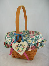 Longaberger 1993 Mothers Day Basket Combo w Tie On