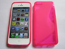 Pink iPhone 5 5s SE TPU Type S Semi Transparent Designer Luxury Full Back Case