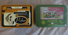 SET OF 2 GAME TINS.  FRONT PORCH POKER AND PARLOR FOOTBALL