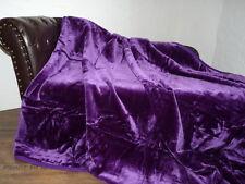 Kuscheldecke Tagesdecke Wohndecke Plaid Glanz-Design  lila / violett 160x200cm