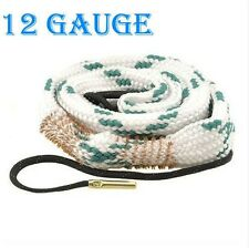 Tactical Bore Snake 12 Cal GA Gauge Shotgun Barrel Bronze Cleaning Kit New