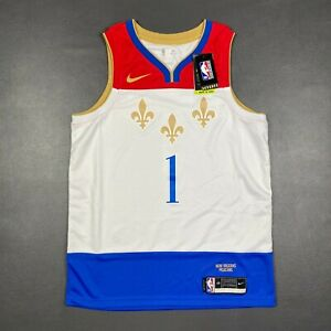 100% Authentic Zion Williamson Nike Pelicans City Swingman Jersey Size 48 L Mens