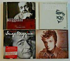SERGE REGGIANI ♦ lot 4 x CD Albums ♦ inclus BEST OF, INEDITS,  reprise Renaud