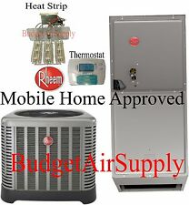 Rheem 3 ton 14 SEER HEAT PUMP Split System RP1436AJ1 MOBILE HOME APPROVED
