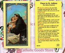St. Anthony - Prayer to Saint Anthony (Divine Protection) - Laminated Holy Card