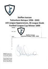 Steffen iverson tottenham hotspur 1996-2003 originale main signé coupe/carte