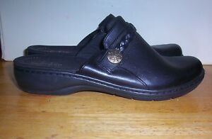 Women's Size 7.5 Clark's Ultimate Comfort Collection Black Clogs Mules  7.5M NEW