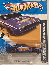2012 Hot Wheels '70 Dodge Challenger HW Racing #174