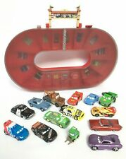 Disney Pixar Cars Race Carry Case and Track & 14 Diecast Cars Lightning McQueen