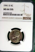 New listing 1941 - D Ngc Ms66Fs Jefferson Nickel! #B10503