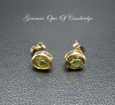 9K gold 9ct Gold Peridot Stud Earrings 1.55g