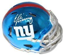 Eli Manning Autographed/Signed New York Giants Chrome Mini Helmet Steiner 22811