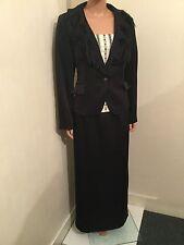 Vestido de noche nuevo negro Maria Coca Top Falda Chaqueta Traje de Tamaño 14 D 40 US 10