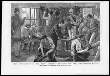 1885 Antiguo Print-Irlanda Sala Verde Césped oficiales Punchtown razas Hall (11)