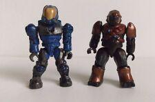 Halo Mega Bloks Figures set of 2 - UNSC FLAME MARINE and COVENANT BRUTE