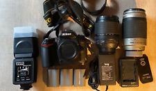 NIKON D90 DSLR Caméra Kit avec objectif NIKKOR, Chargeur, Batteries & 4 Go SD