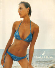 2002 magazine advertisement for NAUTICA Swimwear blue 2 piece Nice!  072418