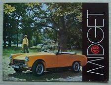 MG MIDGET Sports Car Sales Brochure Oct 1969 #2701