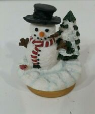 "Our America ~ ""Teeny Toppers"" Snowman With Christmas Tree"