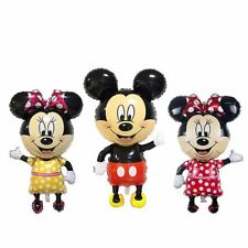 110*64cm Big Red Bowknot Mickey Minnie Mouse Foil Balloons kids Toys Birthday