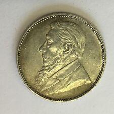 Antiguo Sudáfrica 1 Chelín moneda de plata 1897