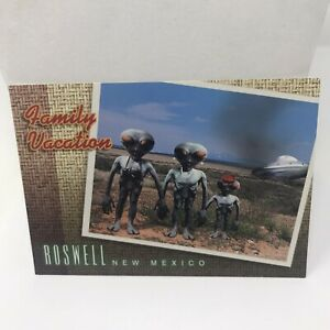 Vintage Postcard Roswell New Mexico Aliens Greeting Card 90's Era