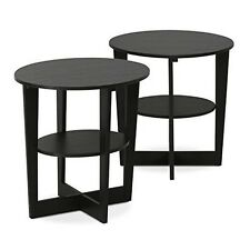 Set of 2 Coffee Table With Stylish Design Round End Table Desk 2pack