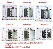 6 in 1 Magnetic Screw Chart Mat Professional Repair Guide iPhone 5/5S/5C/6/6+/6S