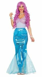 Womens Sexy Mermaid Nautical Princess Sea Fancy Dress Costume Ladies Outfit