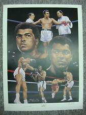 MUHAMMAD ALI AUTOGRAPHED ANGELO MARINO LITHOGRAPH ALSO SIGNED BY ARTIST 297/900