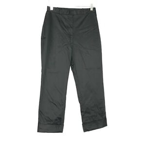 The Limited Pants Womens 6 Black Cropped Stretch Foldover Cuffed Ankle USA