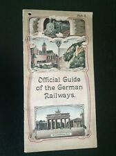 Rare Official Guide Of the German Railways avec carte postale